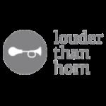 louder than horn logo
