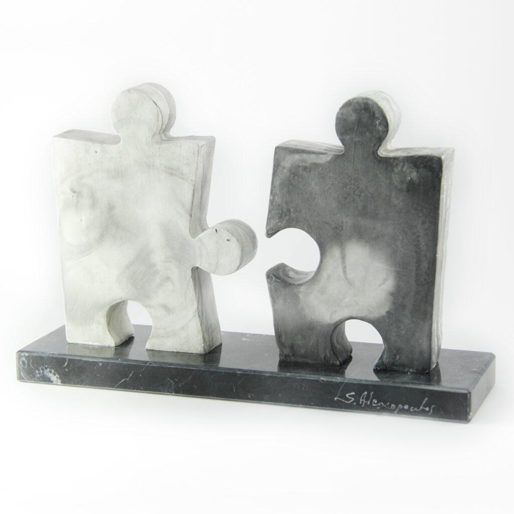 18x28x8cm-Acrylic resin -Dionyssos marble. (Unique)